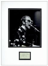 Elton John Autograph Signed Display